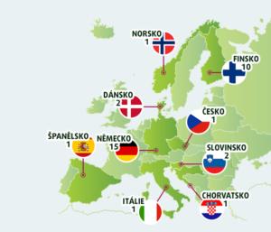 Výherci hlavní výhry EuroJackpotu podle zemí