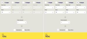 Cena loterie Šťastných 10 - 1 sloupec vs 4 sloupce vč. doplňkových her