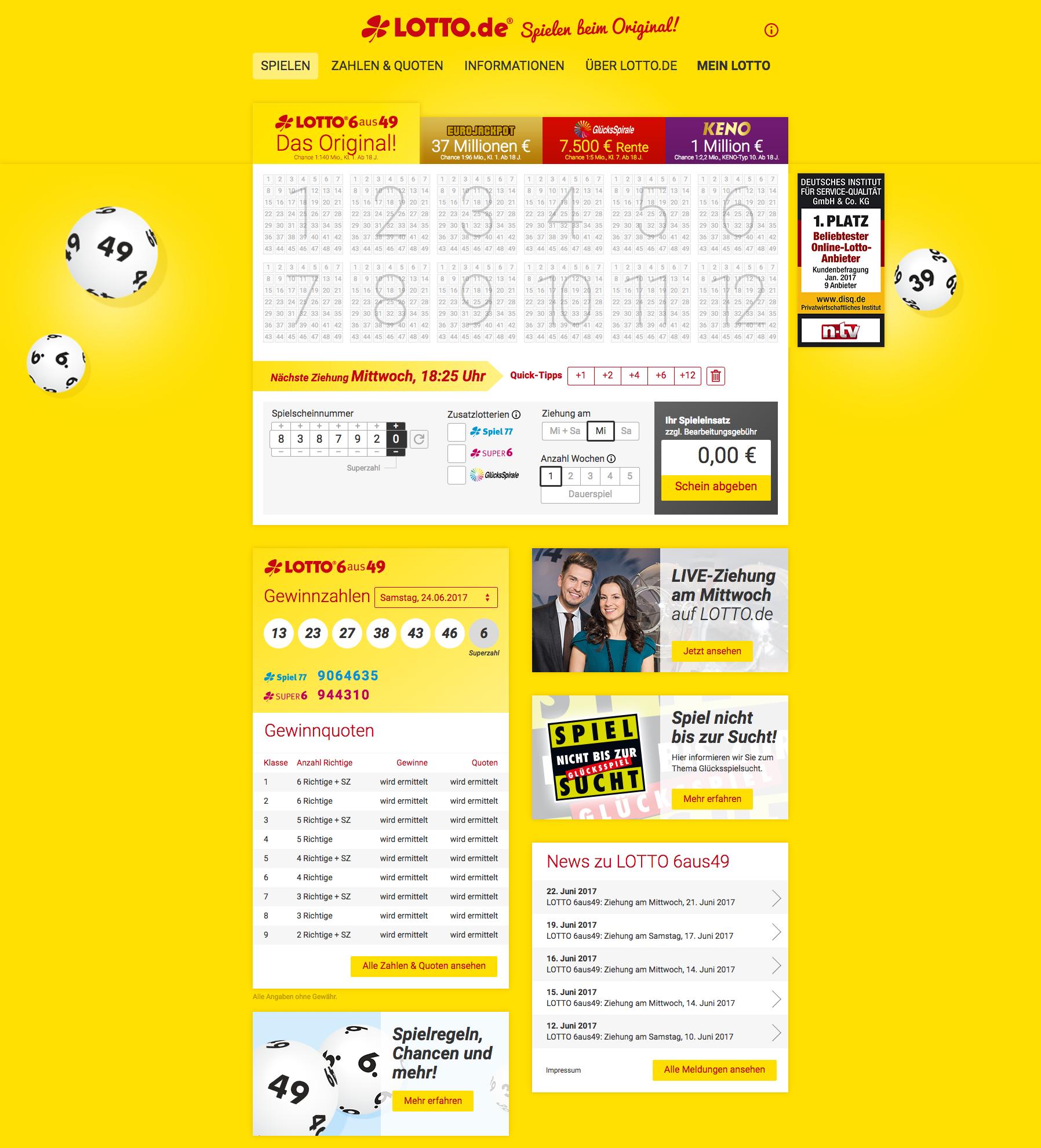 Duitse Lotto 6 Aus 49
