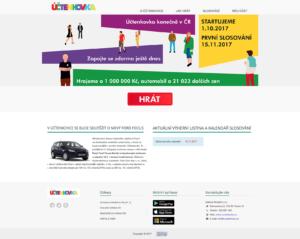 Internetové stránky účtenkové loterie