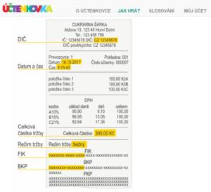 Účtenkovka - návod na registraci účtenky